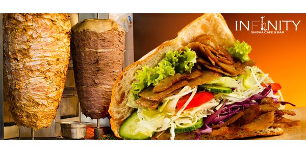 2 voňavé klasické nebo Dürum kebaby