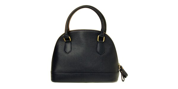 Dámská tmavě modrá kožená kabelka