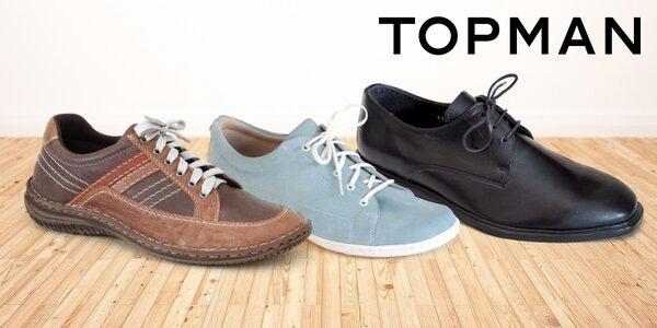 Pohodlná finská obuv Topman z odolných materiálů