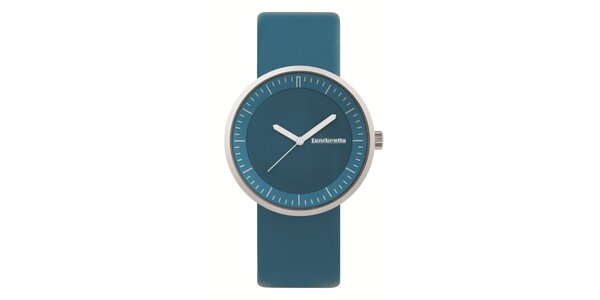 Modré hodinky s koženým řemínkem Lambretta
