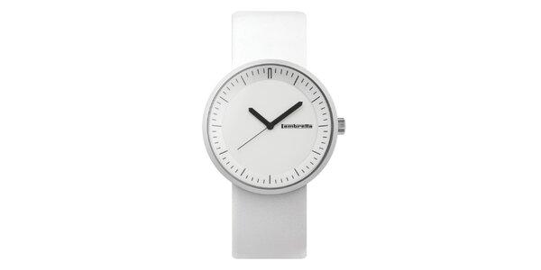 Bílé hodinky s bílým ciferníkem Lambretta