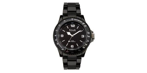 Dámské černé sportovní hodinky French Connection
