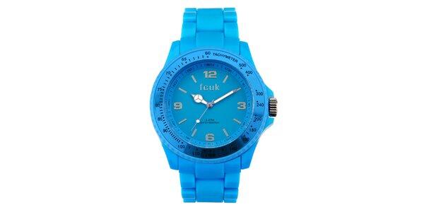 Dámské zářivě modré sportovní hodinky French Connection