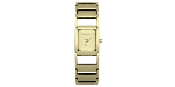 Dámské zlaté ocelové hodinky French Connection