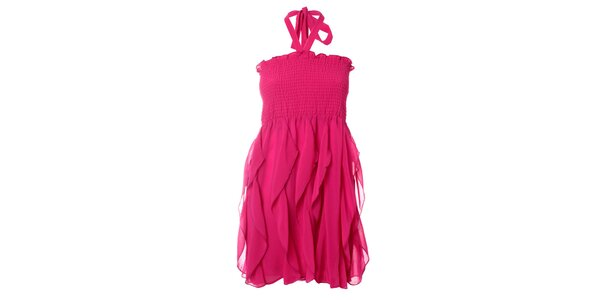 Dámské fuchsiové šaty Kzell
