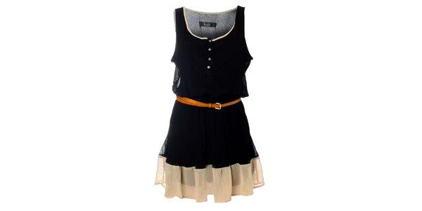 Dámské černé šaty Kzell