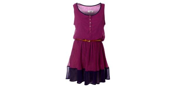 Dámské fialové šaty Kzell