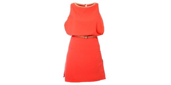 Dámské korálové šaty Kzell