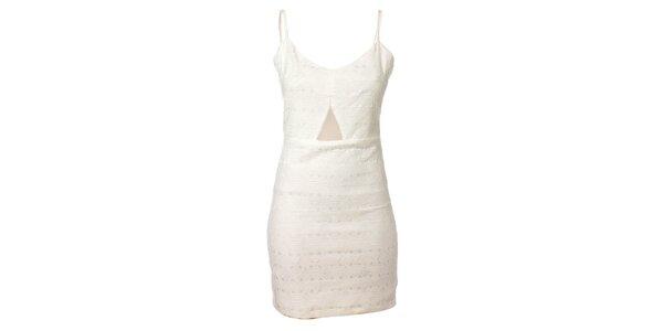 Dámské bílé pouzdrové šaty Kzell