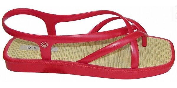 Dámské červené sandále Grendha