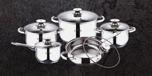 Velká nerezová sada kuchyňského nádobí