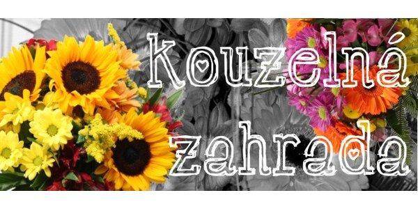 199 Kč za kytici z řezaných květů v Kouzelné zahradě Brno