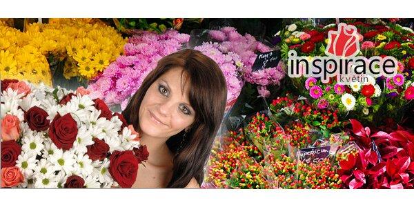 Nádherné řezané květiny za poloviční cenu