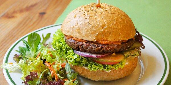 Veganské burger menu připravené s láskou