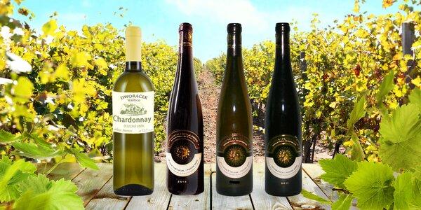 3× pozdní sběr z Moravy: červené i bílé víno