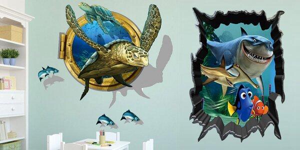 3D samolepky nejen na zeď v mnoha motivech