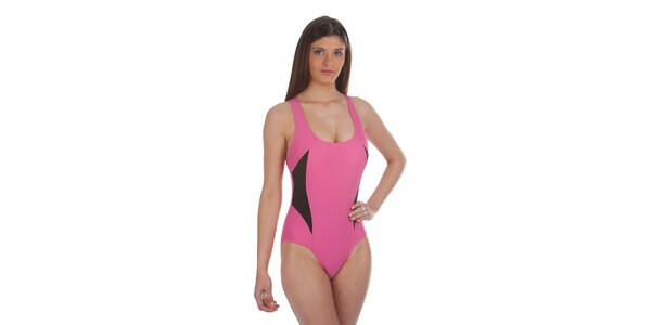 Dámské růžovo-černé jednodílné plavky Cristian Lay