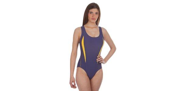 Dámské fialovo-žluté jednodílné plavky Cristian Lay