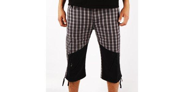 Pánské šedé kostkované trekové kalhoty Authority