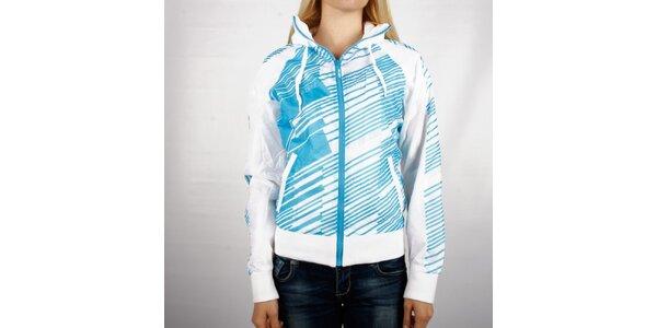 Dámská bílá sportovní bunda Authority s modrým potiskem