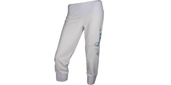 Dámské bílé 3/4 sportovní kalhoty Authority
