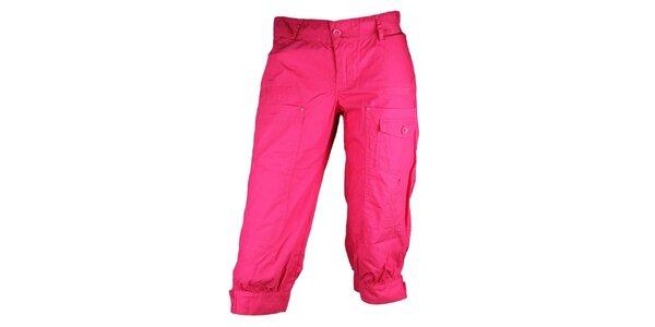 Dámské růžové sportovní kalhoty Authority ve 3/4 délce