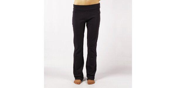 Dámské antracitové elastické kalhoty Authority s vysokým lemem