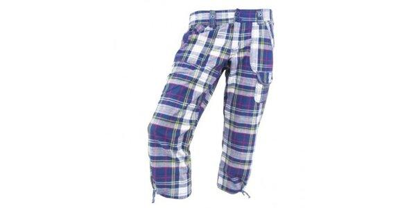 Dámské modré kostkované kalhoty Authority