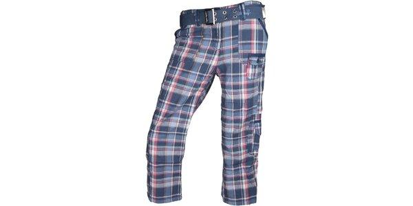 Dámské modré kostkované 3/4 kalhoty Authority