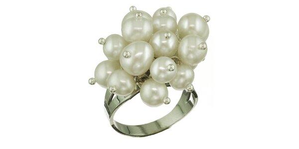 Dámský prsten Orchira s bílými perlami