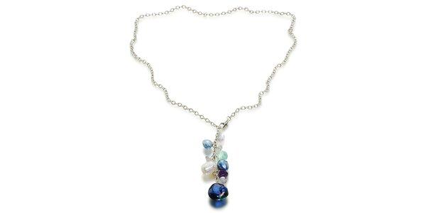 Dámský stříbrný náhrdelník Orchira s perlovým přívěskem