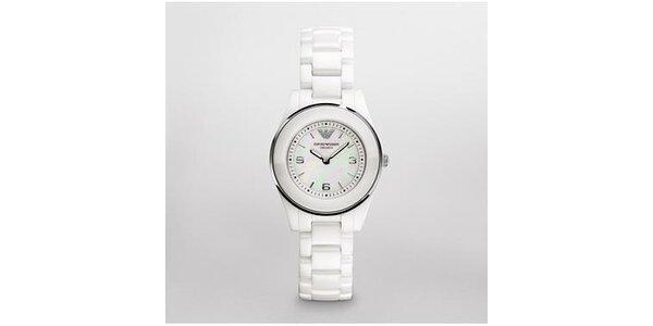 Dámské bílé keramické hodinky Emporio Armani