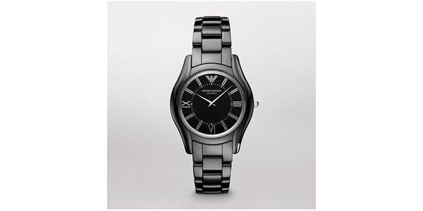 Dámské černé keramické hodinky Emporio Armani