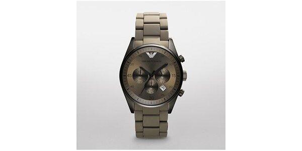 Dámské tmavě šedé hodinky Emporio Armani