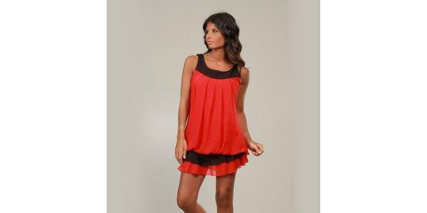 Dámské červené šaty La Belle Francaise s kanýrem