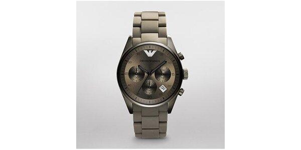 Pánské tmavě šedé hodinky Emporio Armani