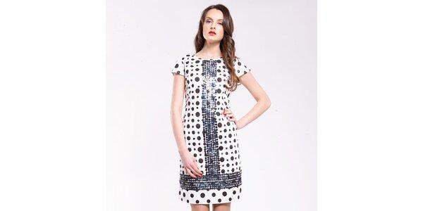 Dámské černo-bílé putníkaté šaty Almatrichi