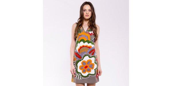 Dámské oranžovo-béžové šaty Almatrichi