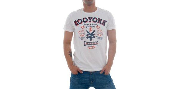 Pánské bílé tričko Zoo York s potiskem