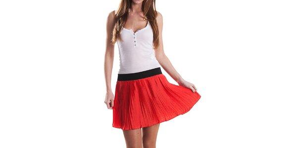 Dámská červená plisovaná sukně Stradivarius