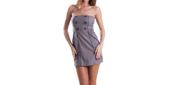 Dámské modro-šedé kostkované šaty Stradivarius