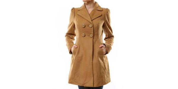 Dámský světle hnědý kabát Stradivarius