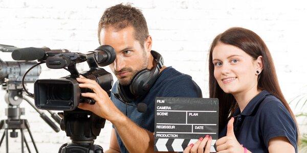 Natáčení reportáže s profesionálním týmem