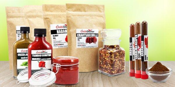 Chilli papričky: sušené, mash, vločky i v prášku