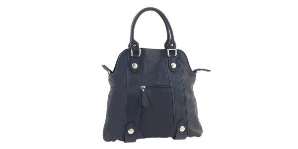 Dámská tmavě modrá kožená kabelka Ore 10