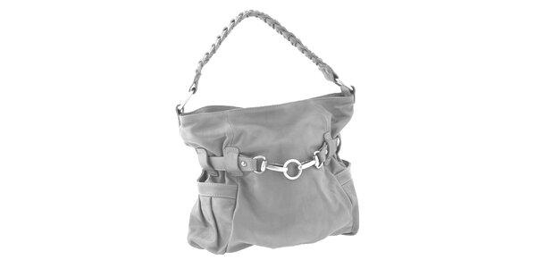 Dámská šedá kožená kabelka Ore 10