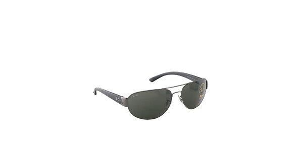 Šedé sluneční brýle s khaki skly Ray-Ban