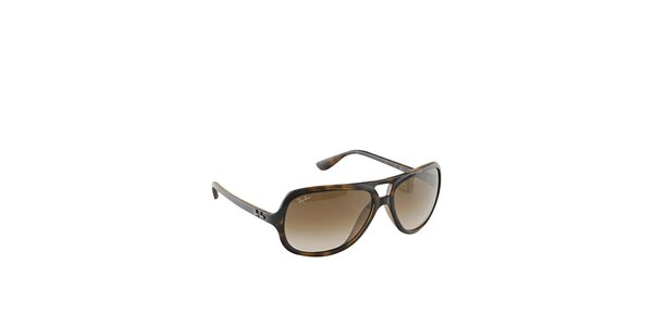 Dámské jantarově žíhané sluneční brýle Ray-Ban