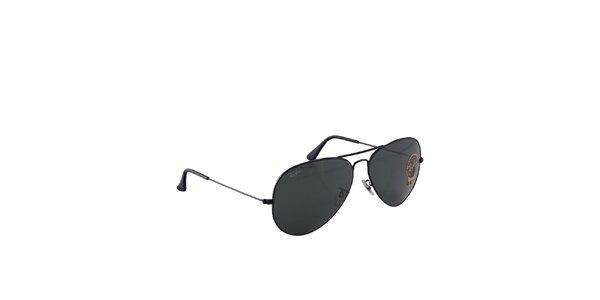 Černé aviátorské sluneční brýle Ray-Ban