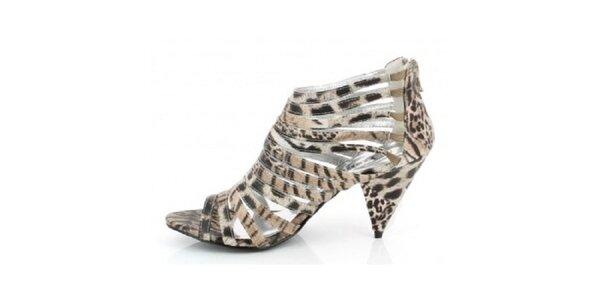 Dámské béžové zvířecí sandálky Yook for you
